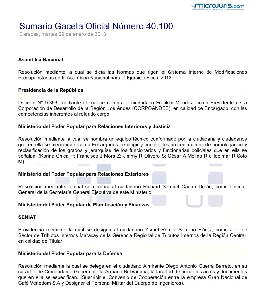 Sumario GO 40100