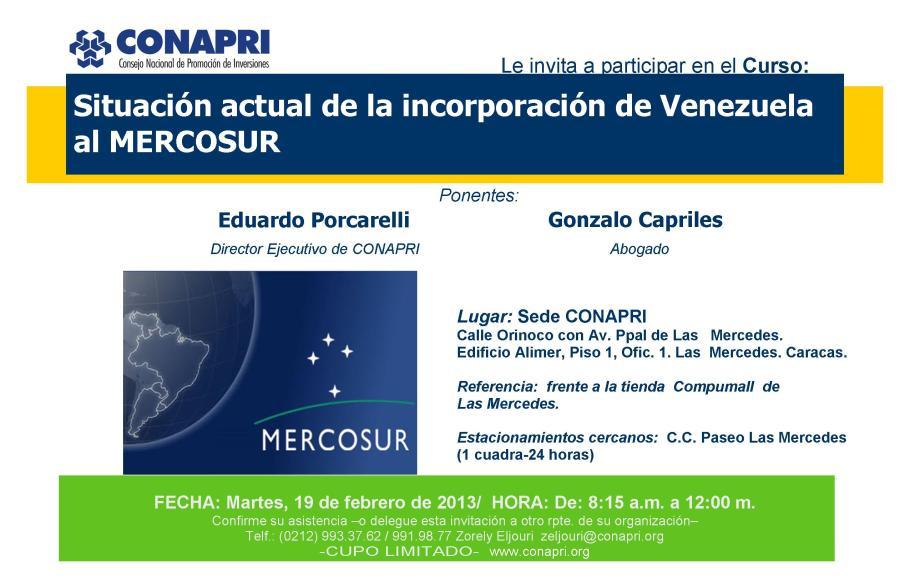 2013-01-14. Curso Mercosur