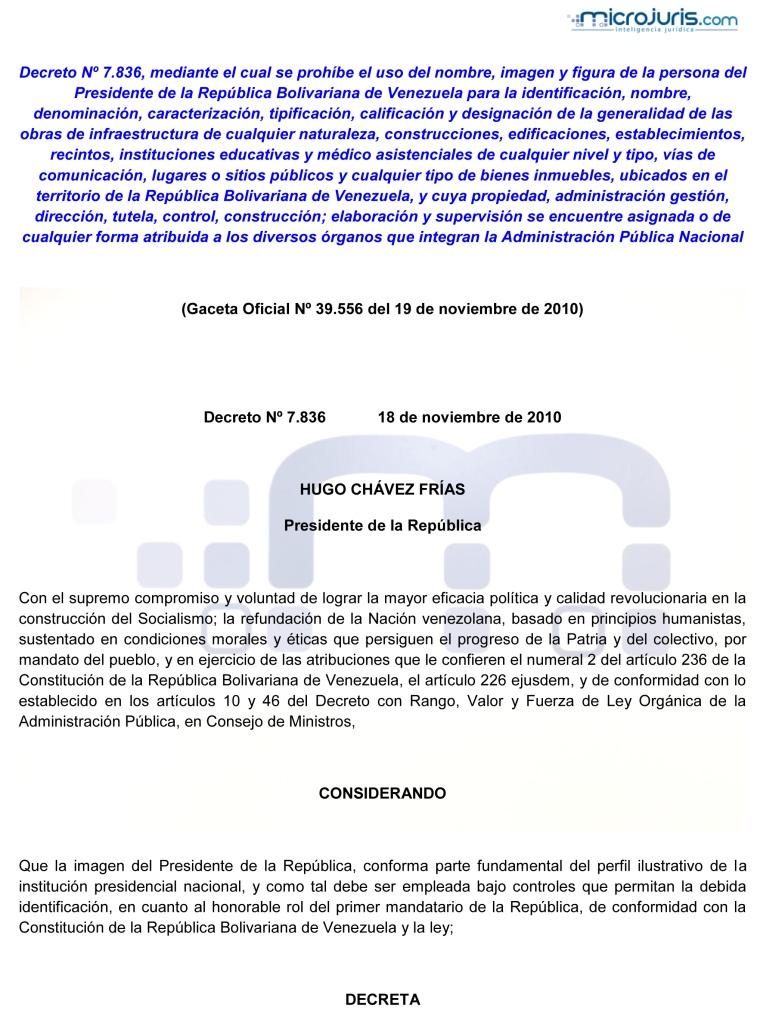 Decreto que prohibe el uso de la imagen y figura del Presidente de la República-1