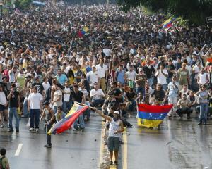 Venezuelan anti-government demonstrators