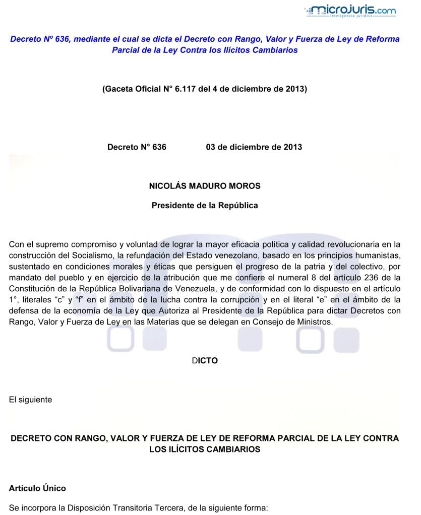 Decreto N° 636