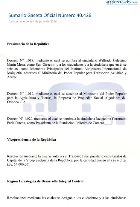 Sumario GO 40426-1