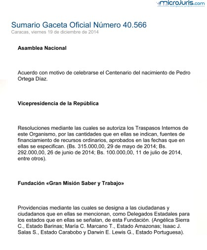 Sumario GO 40566-1