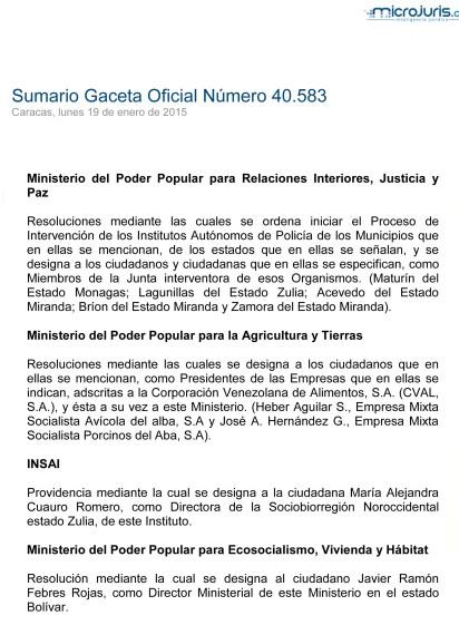 Sumario GO 40583-1