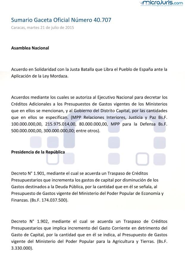 Sumario GO 40707-1