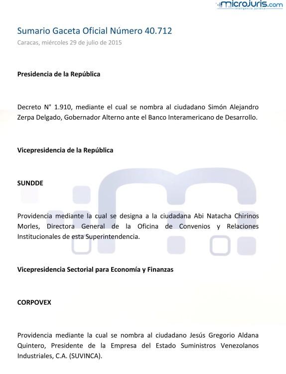Sumario GO 40712-1