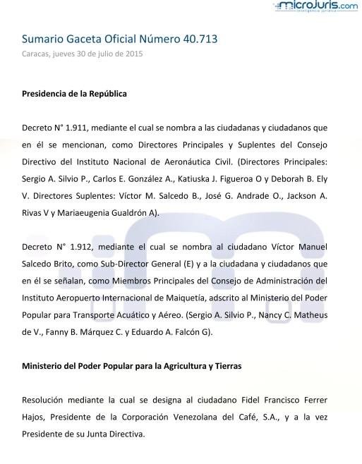 Sumario GO 40713-1