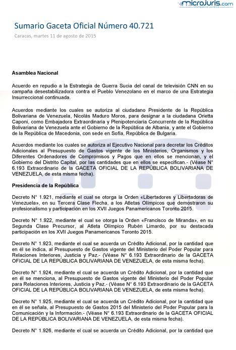 Sumario GO 40721-1