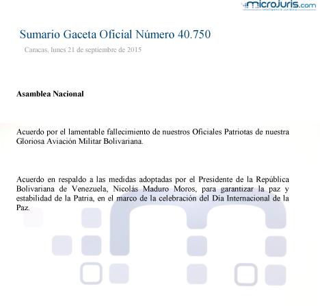 Sumario GO 40750