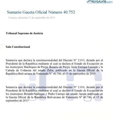 Sumario GO 40752