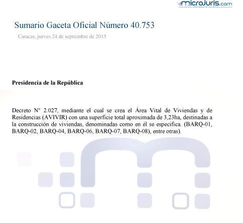Sumario GO 40753