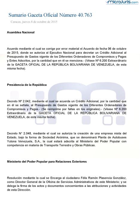 Sumario GO 40763-1