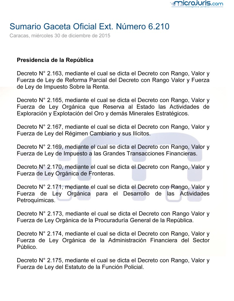 SUMARIO G.OExt. N° 6210