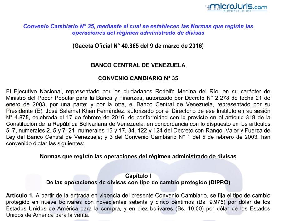 CONVENIO CAMBIARIO N° 35 copy