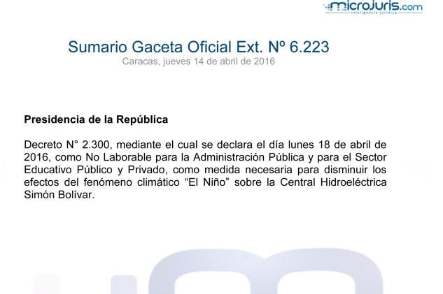Sumario GO 6223