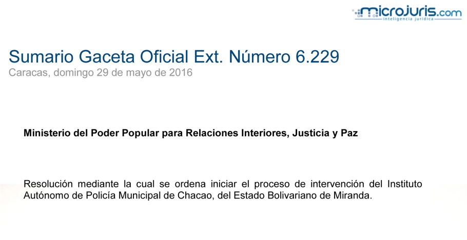 SUMARIO Gaceta Oficial Ext. N° 6.229 copy