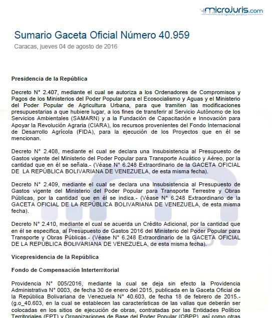Sumario N° 40.959