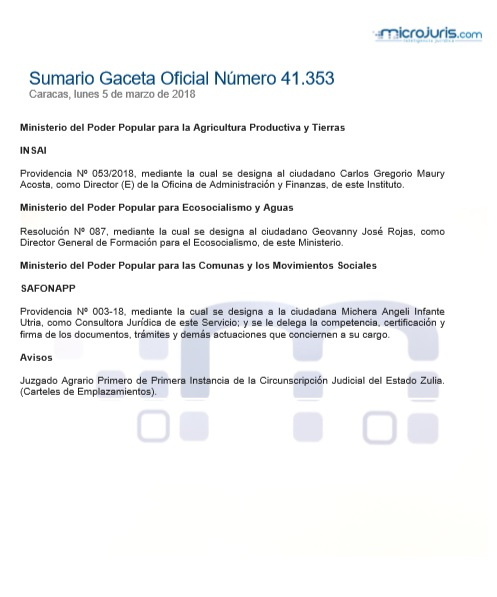 Sumario N° 41.353